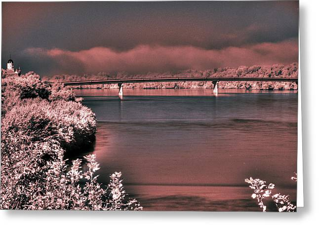 Greeting Card featuring the photograph Bridge Across The Mo by William Fields