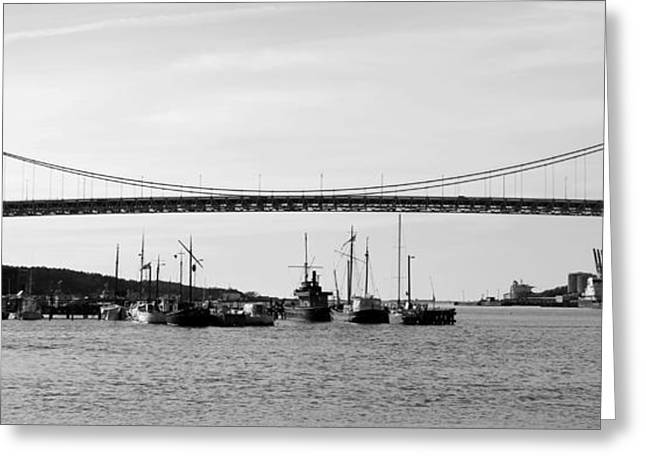Bridge And Boats Greeting Card by Smallfort Photography Collection
