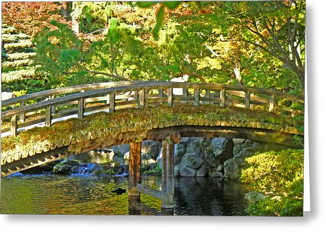 Bridge At The Imperial Palace Greeting Card by Roberto Alamino