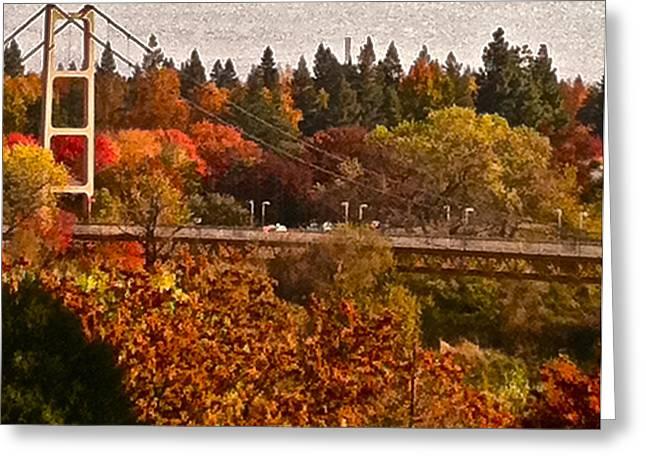 Bridge Greeting Card by Bill Owen