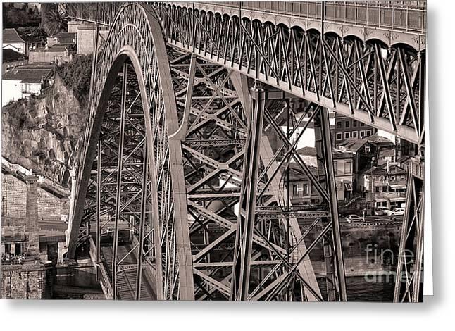 Bridge Construction Greeting Card