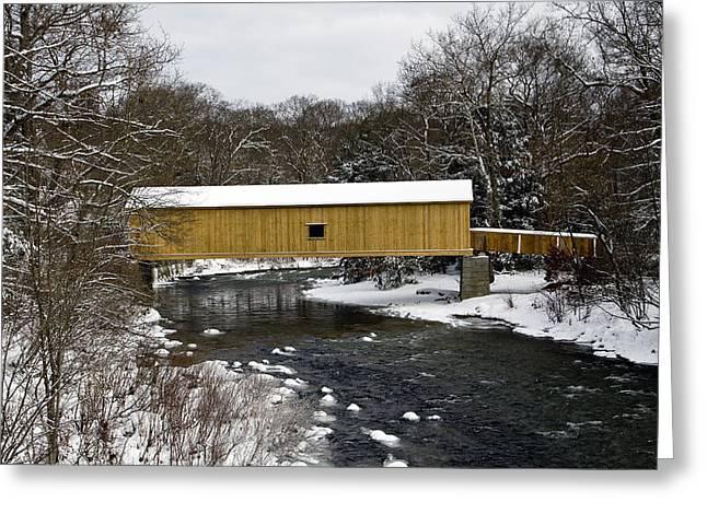 Bridge In Winter II Greeting Card