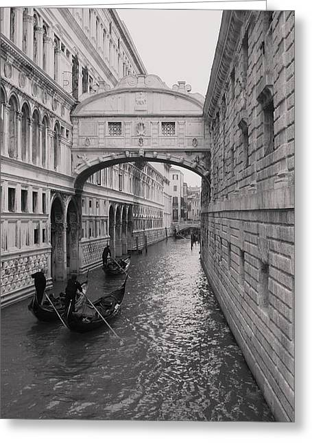 Bridge Of Sighs Greeting Card by Luis and Paula Lopez
