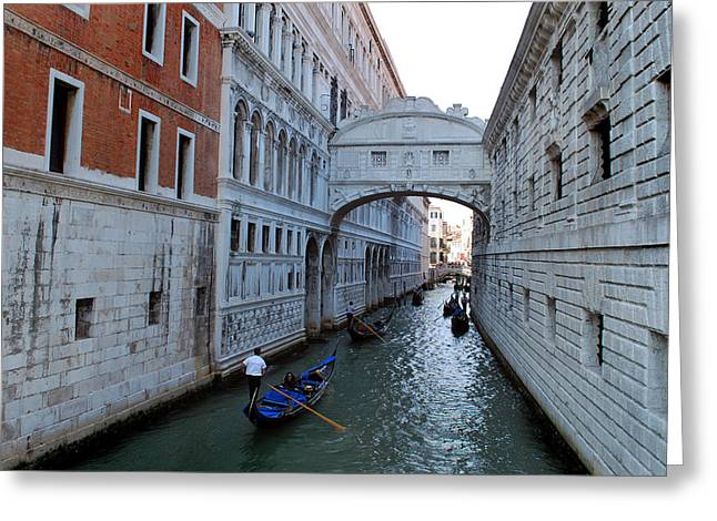 Bridge Of Sighs. Greeting Card by Terence Davis