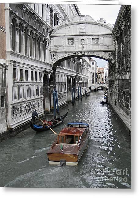 Bridge Of Sights. Venice Greeting Card by Bernard Jaubert