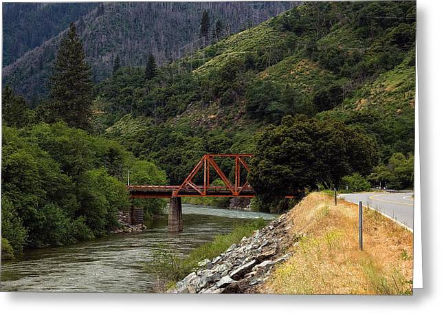 Greeting Card featuring the photograph Bridge On Highway 70 by Gary Rose