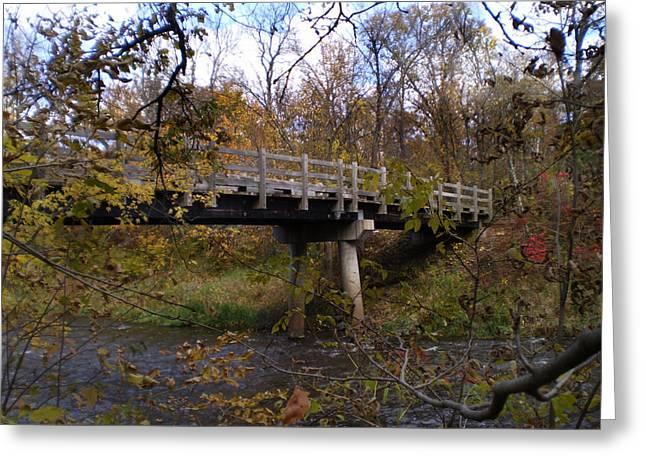 Bridge On The Sunrise River Greeting Card