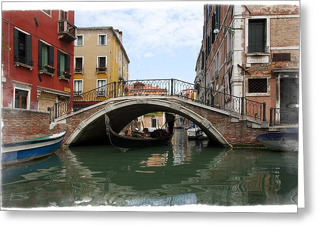 Greeting Card featuring the photograph Bridge Over Gondola by Judy Deist