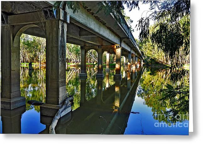 Bridge Over Ovens River Greeting Card