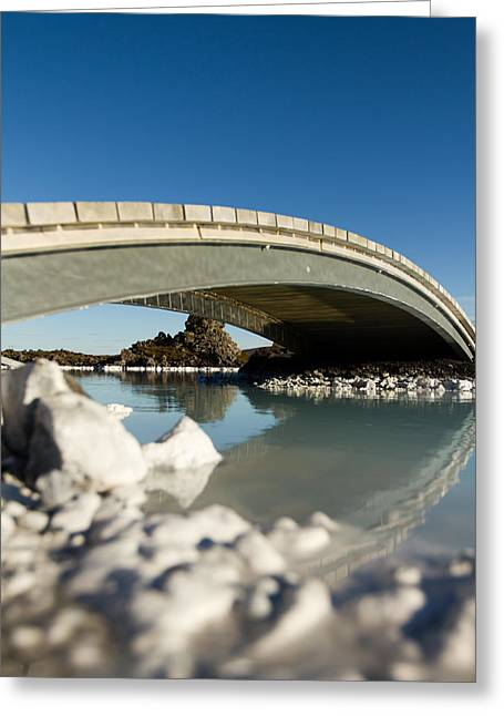 Bridge Over The Blue Lagoon Greeting Card by Andres Leon