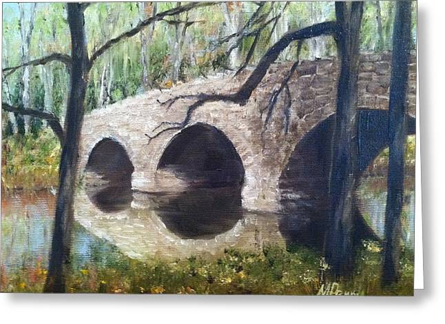 Bridge Over The Perkiomen Greeting Card