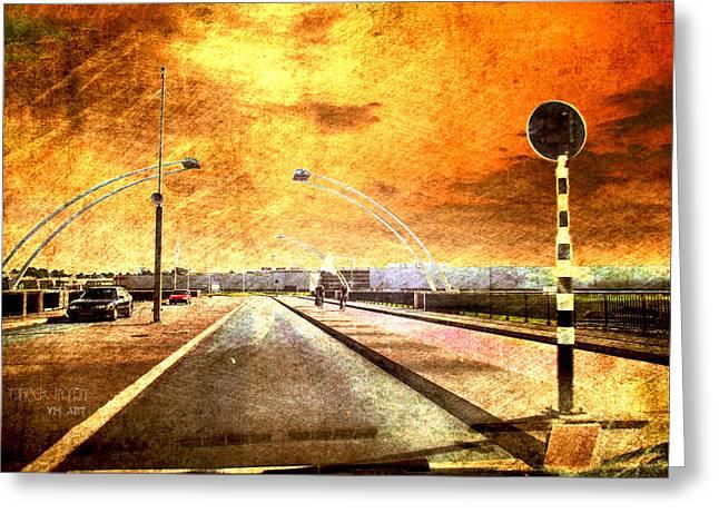 Bridge Over Troubled Water  Greeting Card by Yvon van der Wijk