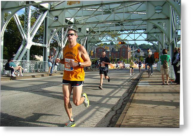 Greeting Card featuring the photograph Bridge Runner by Alice Gipson