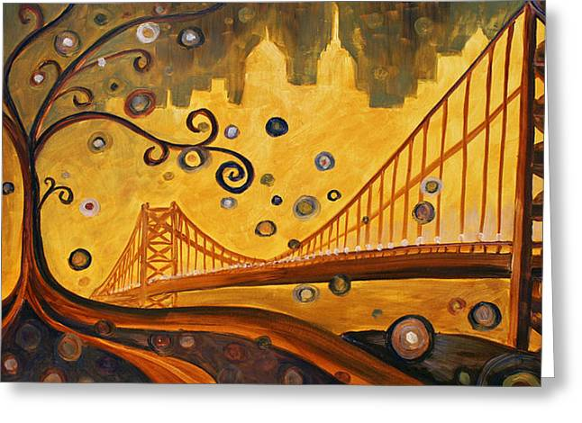 Bridge Greeting Card by Sara Coolidge