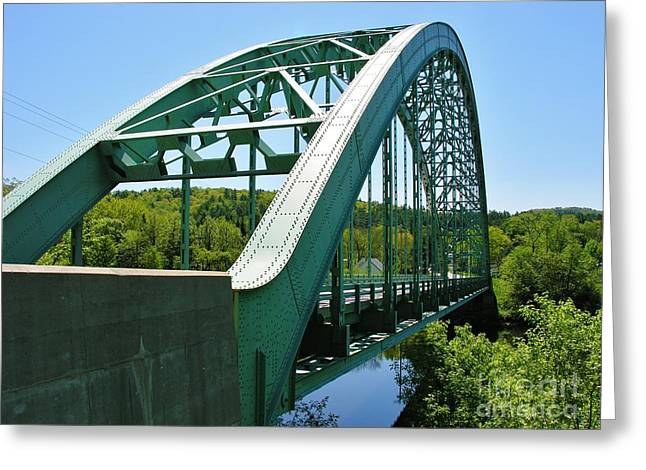 Greeting Card featuring the photograph Bridge Spanning Connecticut River by Sherman Perry