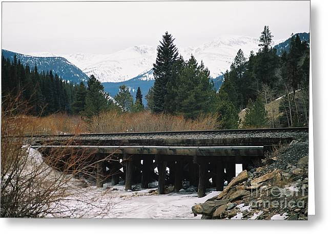 Bridge The Gap Greeting Card by Christopher Griffin
