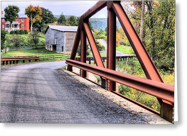 Bridge To A Simpler Time Greeting Card by JC Findley