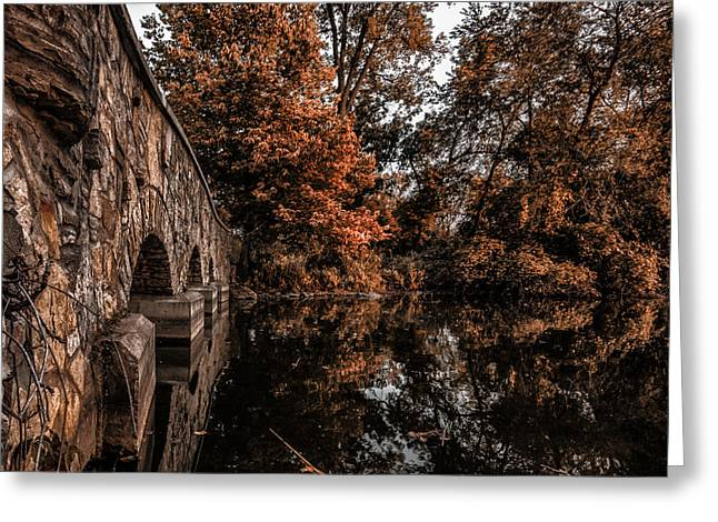 Greeting Card featuring the photograph Bridge To Autumn by Tom Gort