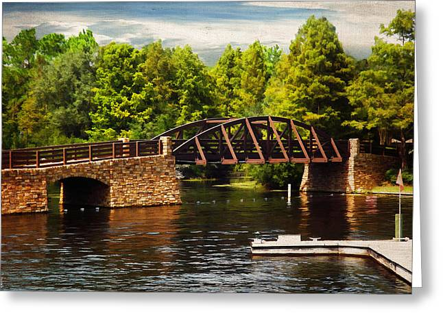 Bridge To Get Away Greeting Card by Lourry Legarde