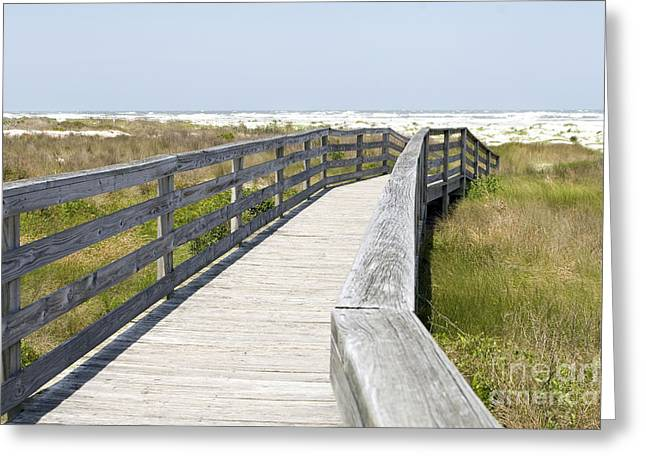Bridge To The Beach Greeting Card by Glennis Siverson