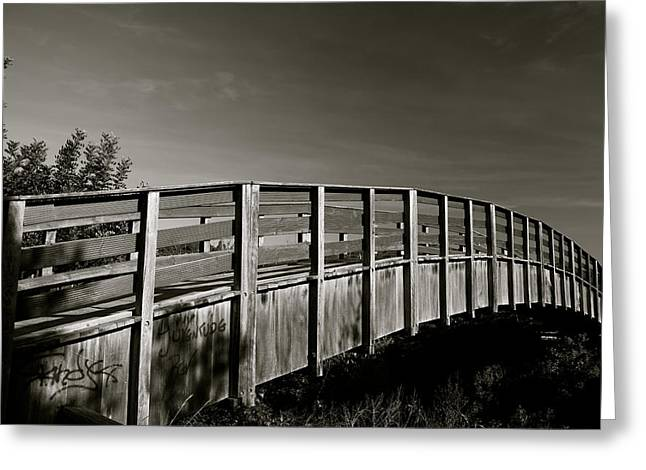 Bridge To The Falls Greeting Card by Jez C Self
