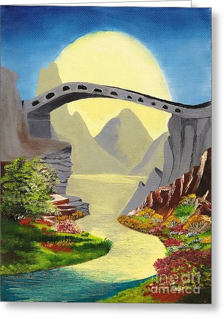 Bridge To The Moon Greeting Card