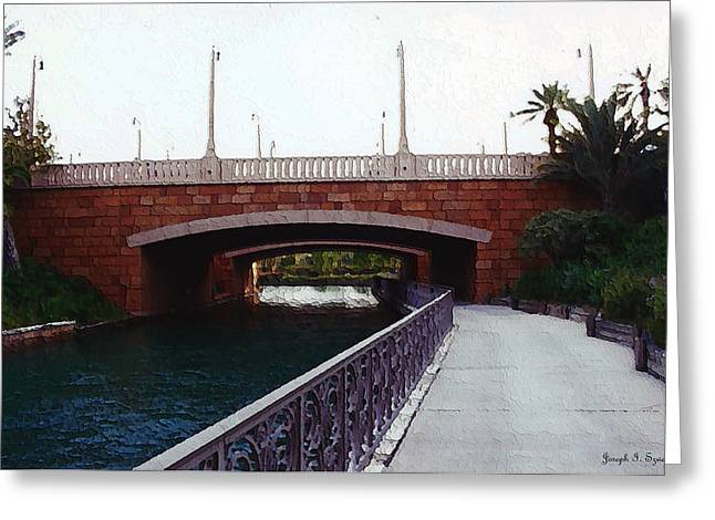 Bridge To The Old World Greeting Card by Joseph Szweda