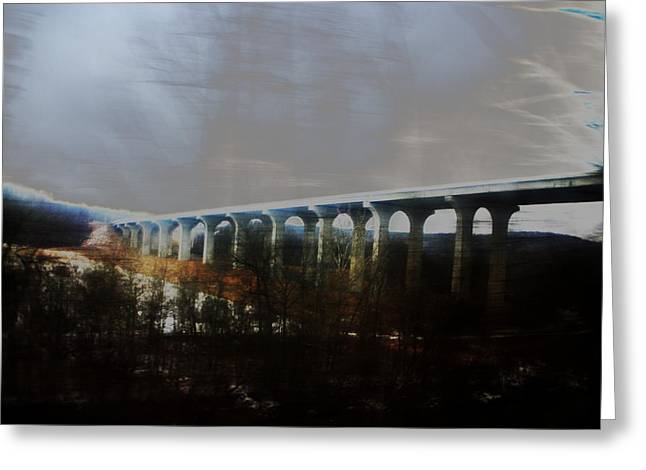 Bridge To The Past Greeting Card by Rosvin Des Bouillons