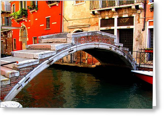 Greeting Card featuring the photograph Bridge Without Railings by Barbara Walsh