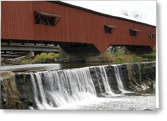 Bridgeton Covered Bridge Greeting Card by Tom Branson