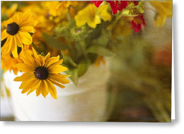 Bright And Sunny Greeting Card by Rebecca Cozart