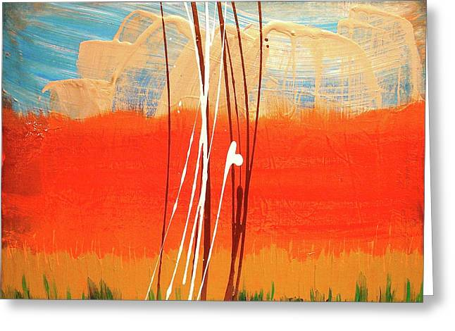 Synesthesia Greeting Cards - Bright Horizon Greeting Card by Melody Dawn Germain