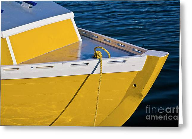 Bright Yellow Boat Greeting Card