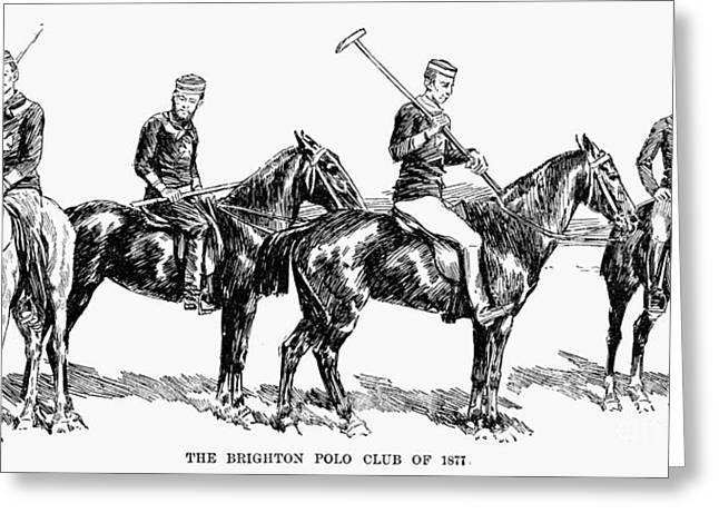 Brighton Polo Club, 1877 Greeting Card by Granger