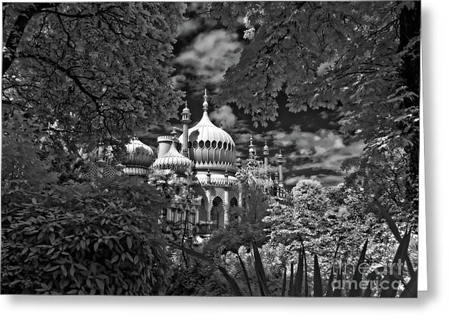 Brighton Royal Pavilion - Infrared  Greeting Card by Steven Cragg