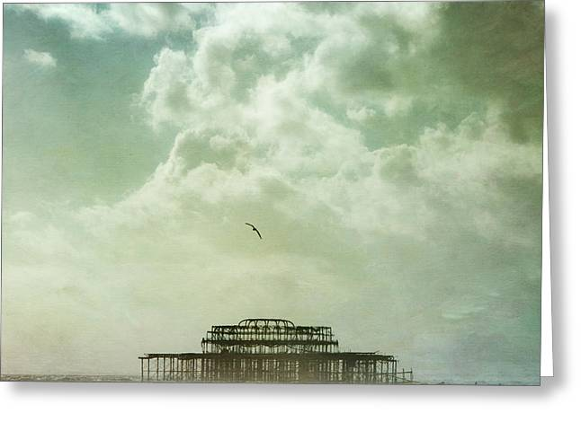Brighton Seascape Greeting Card by Paul Grand