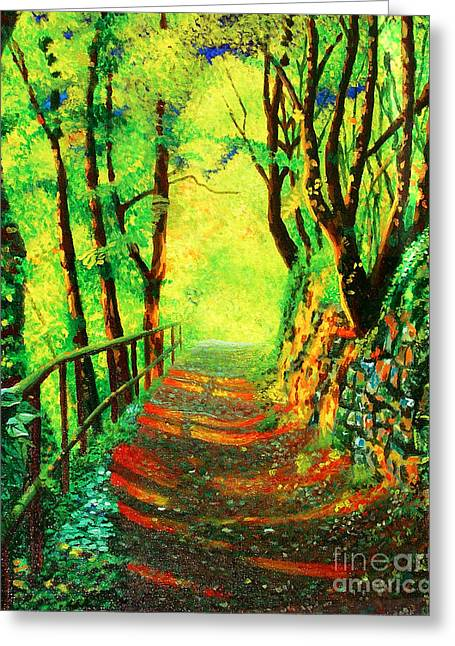 Briliant Forest Greeting Card by Jose Miguel Barrionuevo