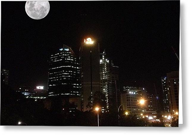 Brisbane Moon Greeting Card