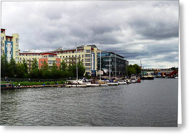 Bristol Panoramic Photograph Greeting Card by Ken Brannen