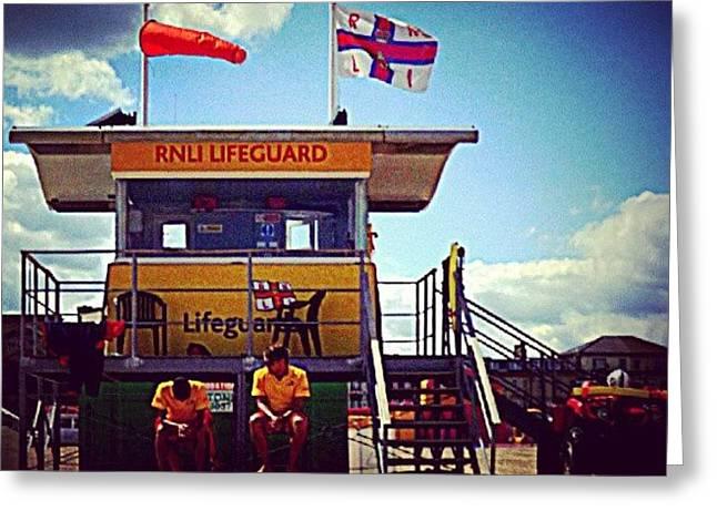 Brit Lifeguards Greeting Card