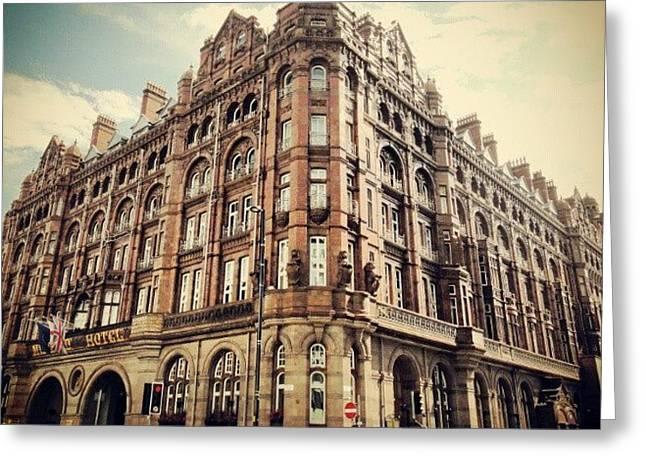 #britanniahotel  #hotel #buildings Greeting Card