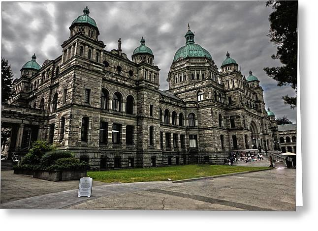 British Columbia Parliament Buildings Greeting Card by Gregory Dyer
