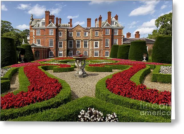 British Garden  Greeting Card by Adrian Evans