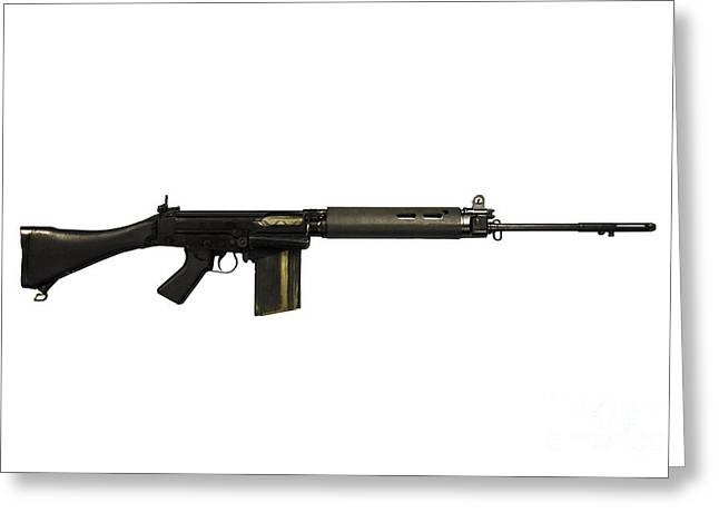 British L1a1 Self-loading Rifle Greeting Card by Andrew Chittock