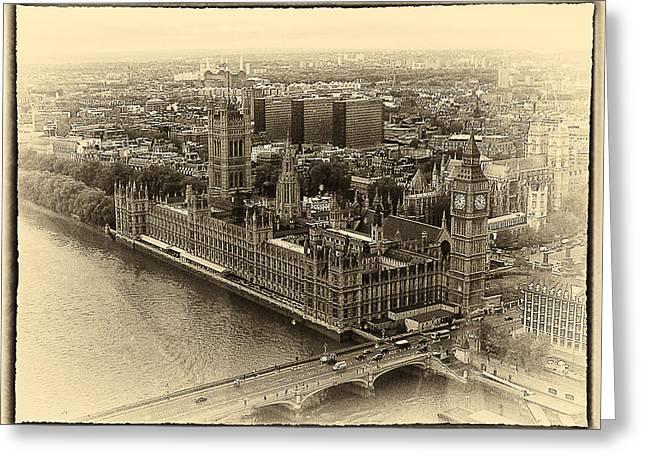 British Parliment Greeting Card by Scott Massey