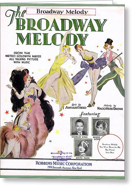 Broadway Melody Greeting Card by Mel Thompson