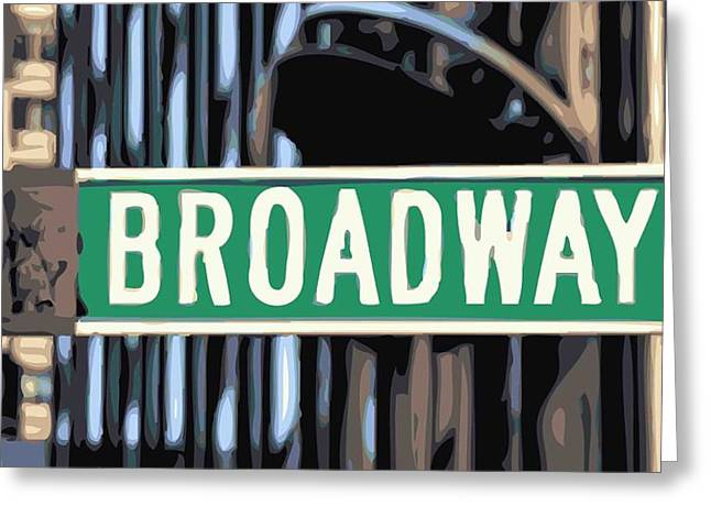 Broadway Sign Color 16 Greeting Card by Scott Kelley