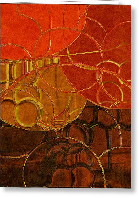 Brocade Circles No.2 Greeting Card by Bonnie Bruno