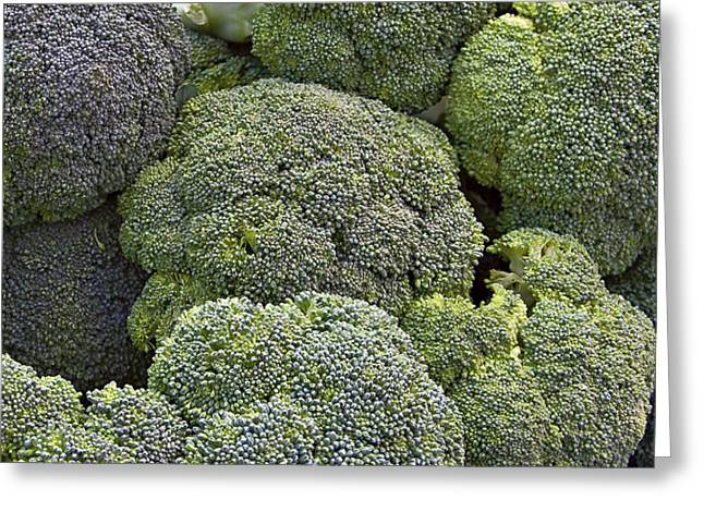Broccoli Greeting Card by Forest Alan Lee