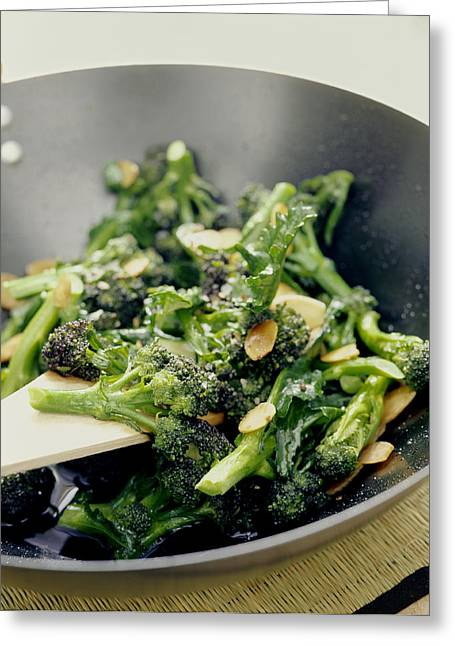 Broccoli Stir Fry Greeting Card by David Munns